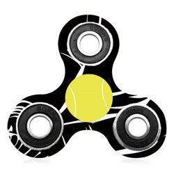 Tri-bar Plastic Tennis Patterned Fidget Spinner Fiddle Toy -