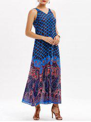 Casual Paisley V Neck Long Summer Dress
