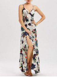High Split Floral Slip Maxi Dress