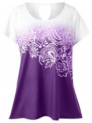 Plus Size Floral Ombre Tee