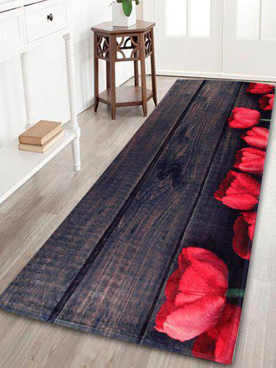 Vintage Plank Coral Fleece Floor Bathroom RugHOME<br><br>Size: W24 INCH * L71 INCH; Color: DUN; Products Type: Bath rugs; Materials: Coral FLeece; Pattern: Print; Style: Vintage; Shape: Rectangle; Package Contents: 1 x Area Rug;