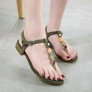 Buckle Strap T Bar Sandals