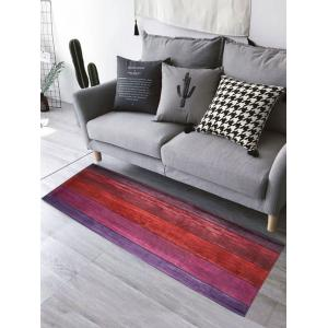 Flannel Water Absorption Colorful Wood Grain Bathroom Rug