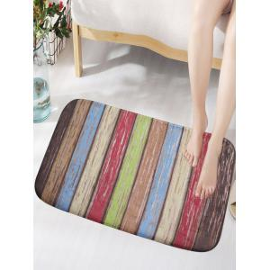 Flannel Skidproof Rainbow Vintage Wood Grain Door Mat - Colorful - W79 Inch * L59 Inch