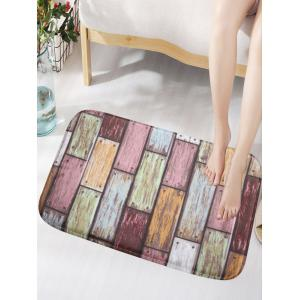 Vintage Wood Grain Print Skidproof Flannel Door Mat