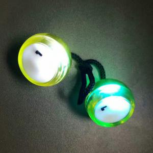 Fidget Toy Finger Yo-yo with Color Changing LED Lights - YELLOW