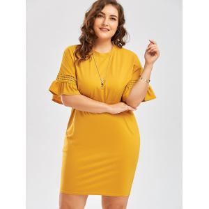 Плюс Размер Cutout Flare Sleeve Cocoon Tee Dress -