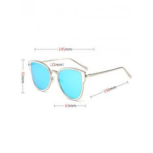 Metal Frame UV Protection Butterfly Sunglasses - GOLD FRAME / GREEN LENS