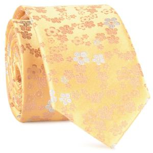 Tiny Floral Jacquard Neck Tie - Yellow