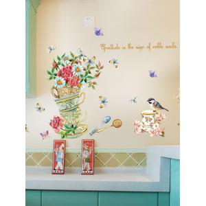 Home Decor Floral Bird Butterfly Quote Wall Sticker