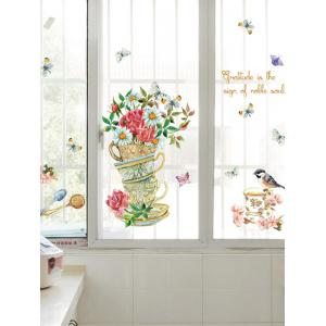 Home Decor Floral Bird Butterfly Quote Wall Sticker -