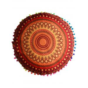 Mandala Printed Floor Round Cushion Pillowcase