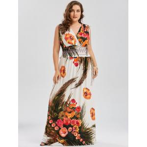 Maxi Floral Beach Boho Dress for Plus Size -