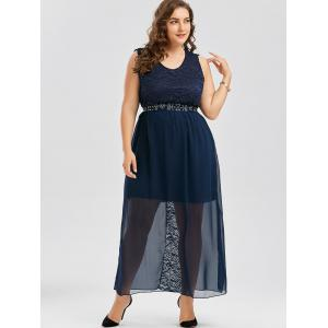Plus Size Chiffon Long Evening Formal Maxi Dress -