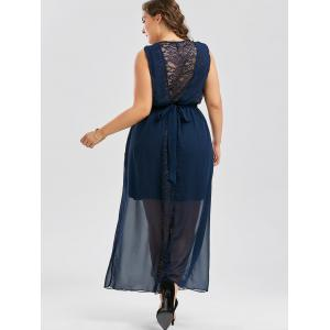 Plus Size Chiffon Long Evening Formal Maxi Dress - PURPLISH BLUE 3XL
