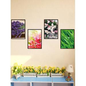 4Pcs/Set Floral Removable Art Stickers For Wall - Colormix - 50*70cm