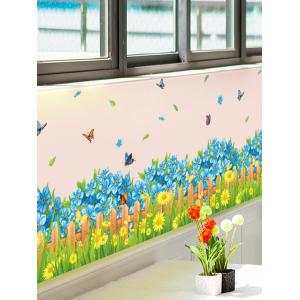 Flower Waterproof Wall Skirting Line Sticker - Colormix - 50*70cm