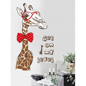Removable Giraffe Animal Wall Sticker for Nursery -