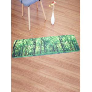 coral fleece area rug with forest pattern green w16 inch l47 inch