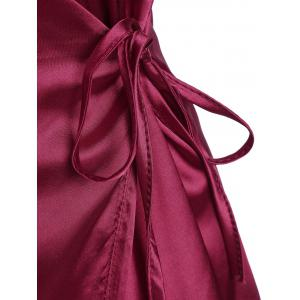 Mini Cami Satin Wrap Dress -