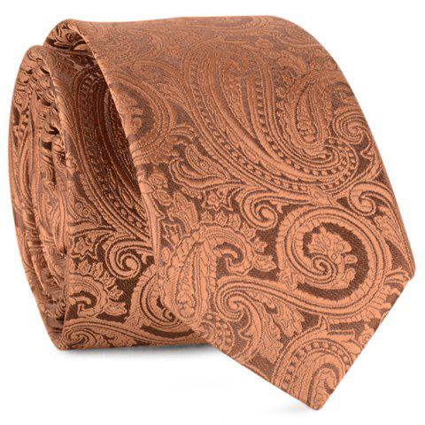 Shop Anthemia Paisley Pattern Jacquard Tie - COFFEE  Mobile