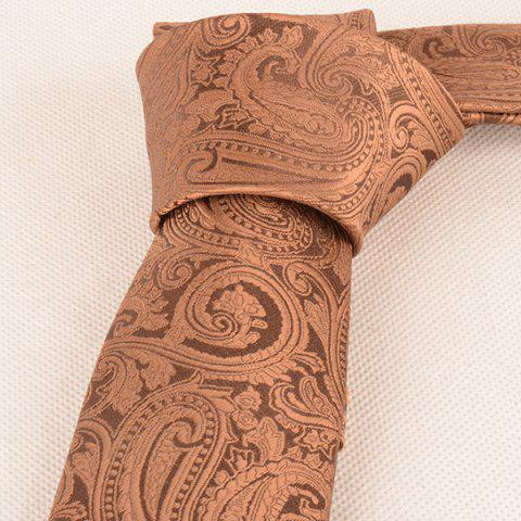 Affordable Anthemia Paisley Pattern Jacquard Tie - COFFEE  Mobile