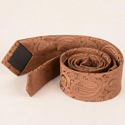 Unique Anthemia Paisley Pattern Jacquard Tie - COFFEE  Mobile