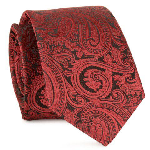 Anthemia Paisley Pattern Jacquard Tie Rouge vineux