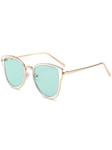 Chic Metal Frame UV Protection Butterfly Sunglasses GOLD FRAME / GREEN LENS