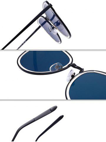 Chic Metallic Frame Butterfly Mirrored Sunglasses - GOLE FRAME + GOLD LENS  Mobile