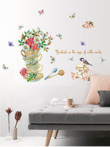 Hot Home Decor Floral Bird Butterfly Quote Wall Sticker - 50*70CM FLORAL Mobile