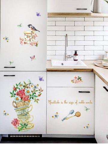 Discount Home Decor Floral Bird Butterfly Quote Wall Sticker - 50*70CM FLORAL Mobile