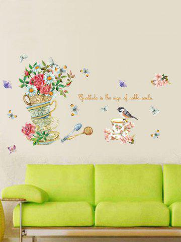 Shops Home Decor Floral Bird Butterfly Quote Wall Sticker - 50*70CM FLORAL Mobile