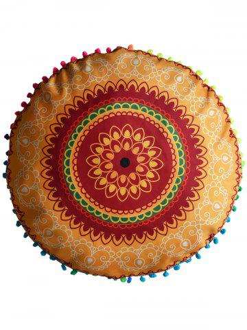 Hot Mandala Round Decorative Pouf Pillow Case - DIAMETER: 45CM EARTHY Mobile