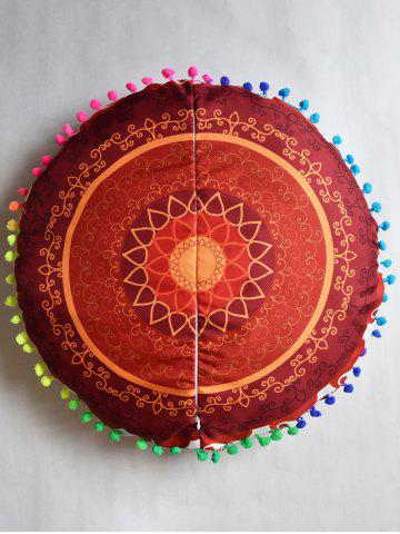 Shops Indian Mandala Round Cushion Cover Pillow Case - DIAMETER:45CM DARKSALMON Mobile
