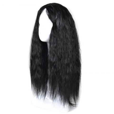 Shop Lolita Long Center Part Corn Hot Curly Cosplay Synthetic Wig - BLACK  Mobile