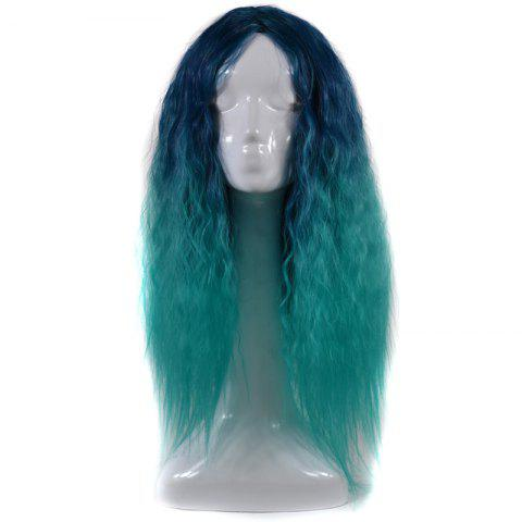 Store Lolita Shaggy Middle Part Long Curly Corn Hot Ombre Synthetic Wig