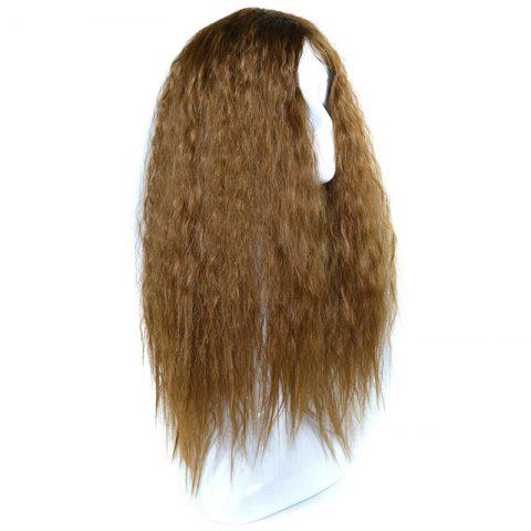 Outfit Lolita Shaggy Middle Part Long Curly Corn Hot Synthetic Wig - BROWN  Mobile