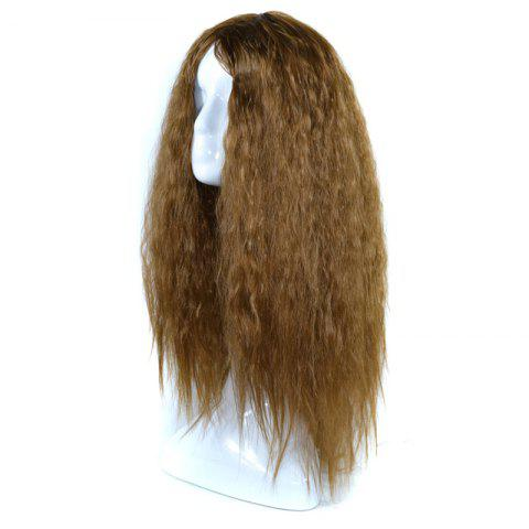 Online Lolita Shaggy Middle Part Long Curly Corn Hot Synthetic Wig - BROWN  Mobile