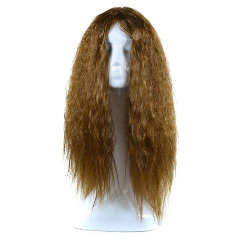 Shops Lolita Shaggy Middle Part Long Curly Corn Hot Synthetic Wig BROWN