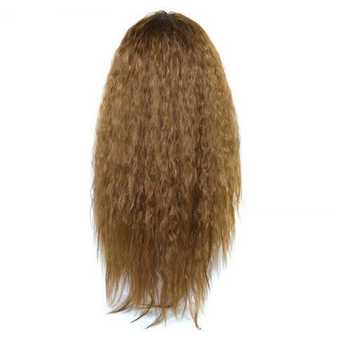 Discount Lolita Shaggy Middle Part Long Curly Corn Hot Synthetic Wig - BROWN  Mobile