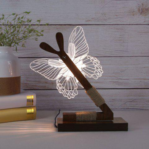 Outfit 3D Stereoscopic Butterfly Home Decoration LED Desk Lamp - UK PLUG WHITE Mobile