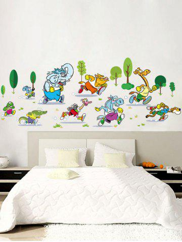 Fancy Animal Marathon Cartoon Wall Sticker For Nursery - 60*90CM COLORMIX Mobile