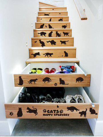 Buy Cat Animal Removable Home Decor Wall Sticker - 45*60CM BLACK Mobile