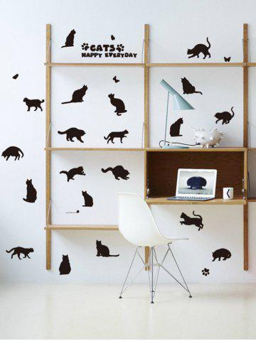 Store Cat Animal Removable Home Decor Wall Sticker BLACK 45*60CM