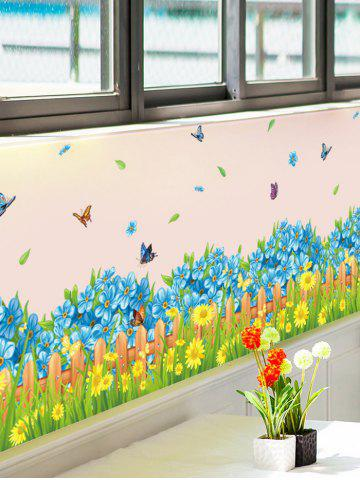 Shop Flower Waterproof Wall Skirting Line Sticker COLORMIX 50*70CM