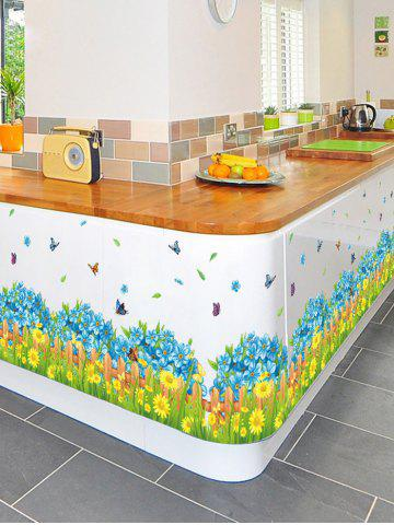 Outfit Flower Waterproof Wall Skirting Line Sticker - 50*70CM COLORMIX Mobile