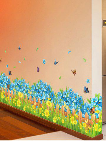 Best Flower Waterproof Wall Skirting Line Sticker - 50*70CM COLORMIX Mobile
