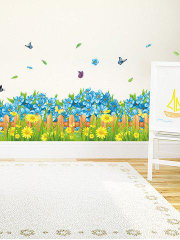 Unique Flower Waterproof Wall Skirting Line Sticker - 50*70CM COLORMIX Mobile