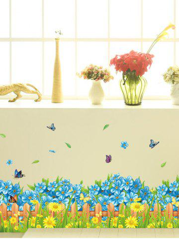 Shops Flower Waterproof Wall Skirting Line Sticker - 50*70CM COLORMIX Mobile